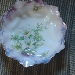 RS Prussia floral console bowl